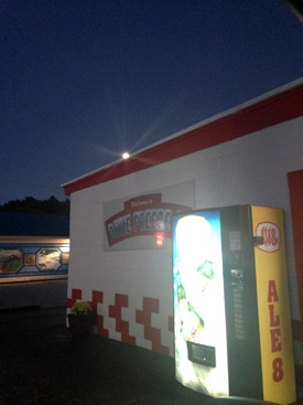 3 things that are larger than life around these parts...the moon, Dixie Freeze, and Ale-8